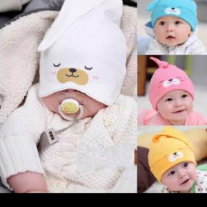 Topi_Bayi_Newborn_Imut_Model_2_in_1