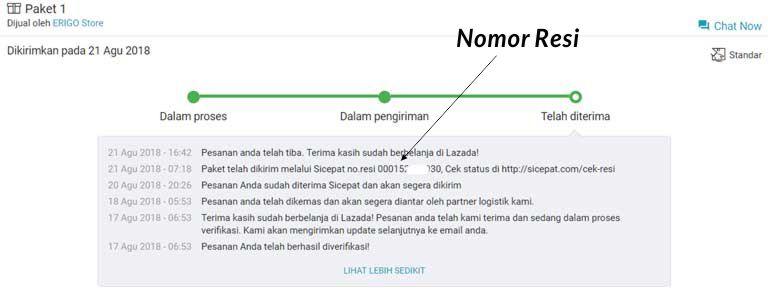 Tips Cek Resi Cara Melacak Kiriman Lazada Express Cekresi Com