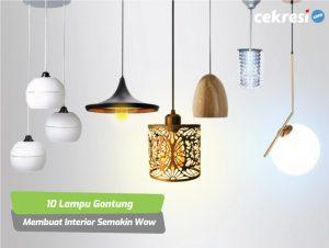 10 Lampu Gantung yang Membuat Interior Rumah Semakin Wow