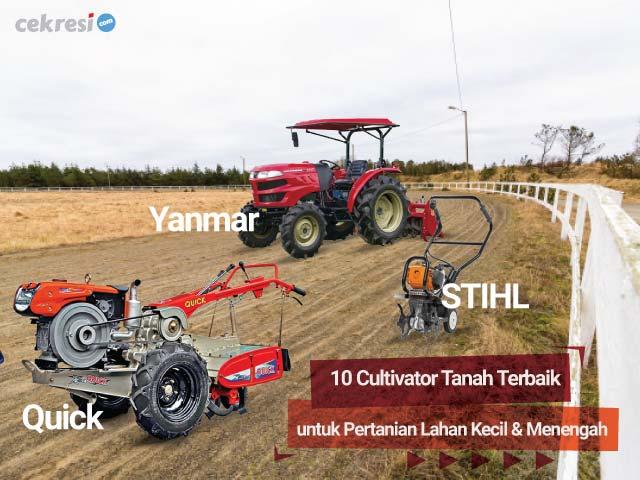 10 Cultivator Tanah Terbaik untuk Pertanian Lahan Kecil dan Menengah
