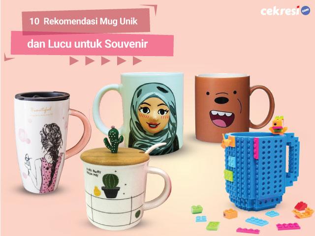 10 Mug Unik dan Lucu untuk Souvenir