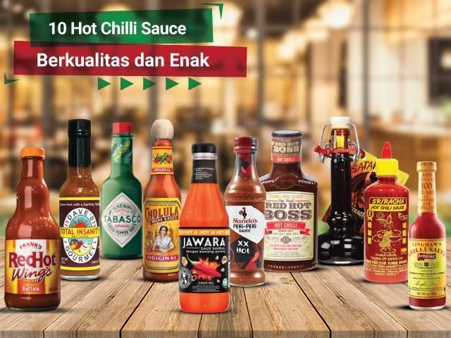 10 Rekomendasi Hot Chilli Sauce Berkualitas dan Enak