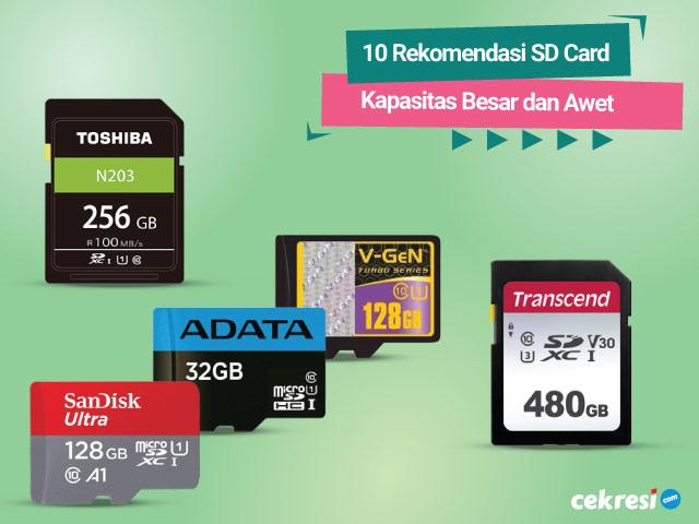 10 Rekomendasi SD Card Kapasitas Besar dan Awet