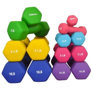 bintiva_neoprene_hexagon_dumbbell