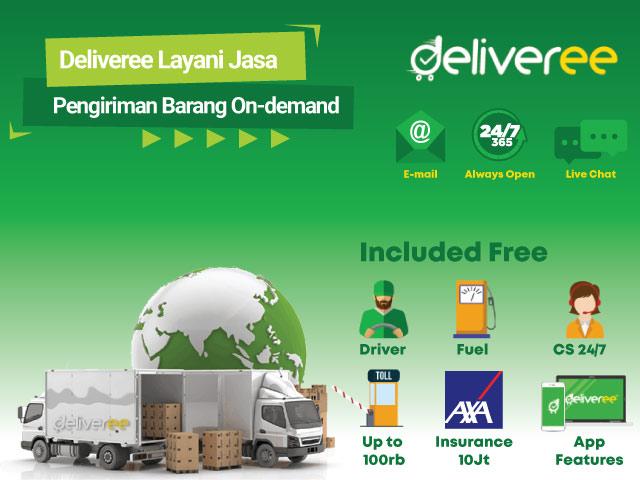 Deliveree Layani Jasa Pengiriman Barang On-demand