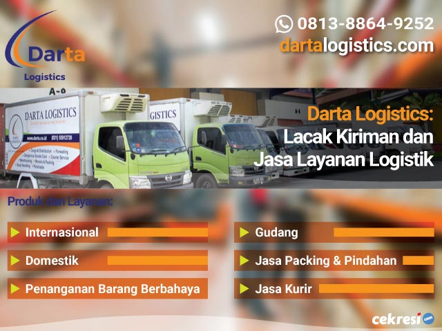 Darta Logistics Lacak Kiriman dan Jasa Layanan Logistik