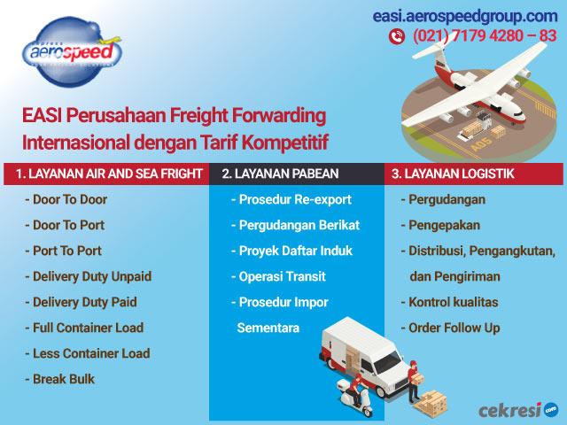 EASI Perusahaan Freight Forwarding Internasional dengan Tarif Kompetitif