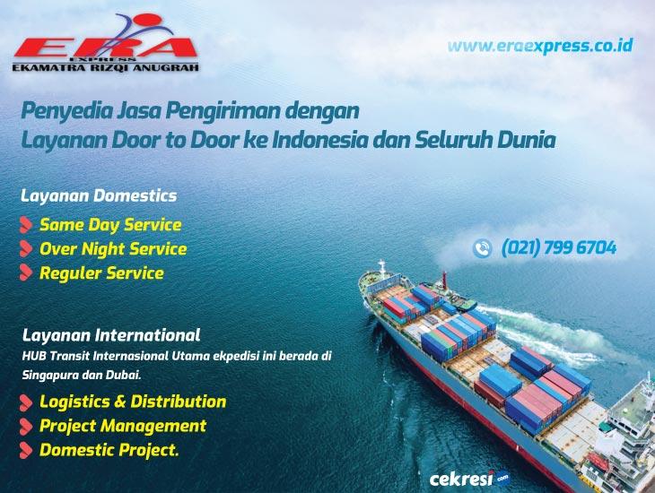 ERA Express Penyedia Jasa Pengiriman dengan Layanan Door to Door ke Indonesia dan Seluruh Dunia
