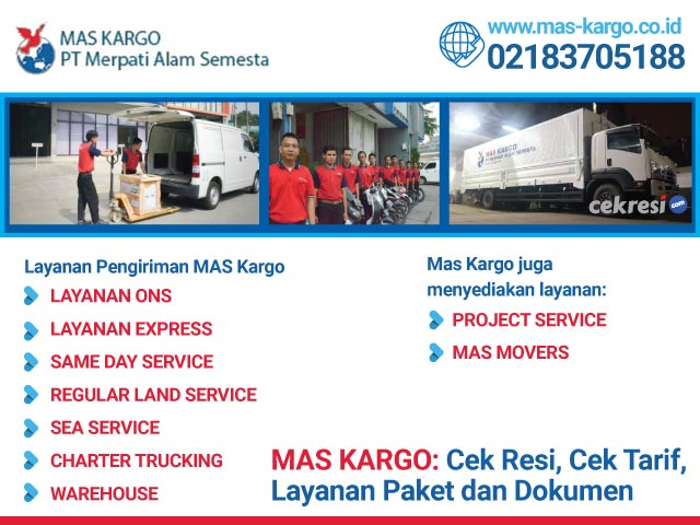 MAS KARGO: Cek Resi, Cek Tarif, Layanan Paket dan Dokumen