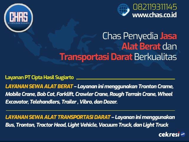 Chas Penyedia Jasa Alat Berat dan Transportasi Darat Berkualitas