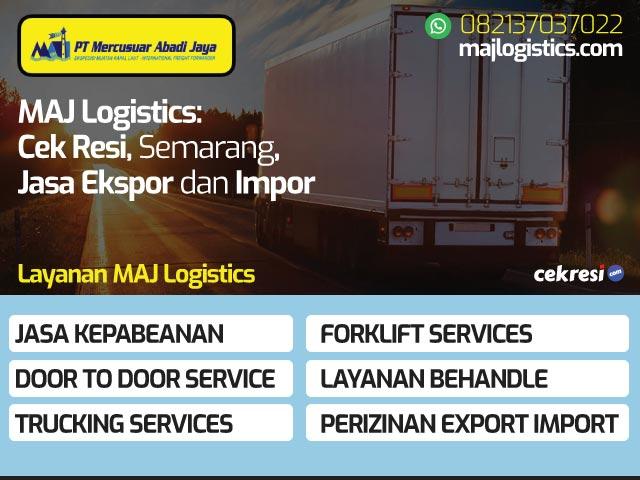MAJ Logistics: Cek Resi, Semarang, Jasa Ekspor dan Impor