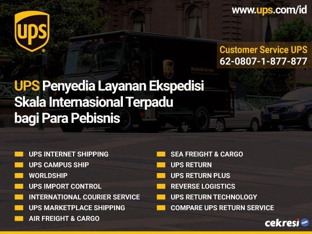 UPS Penyedia Layanan Ekspedisi Skala Internasional Terpadu bagi Para Pebisnis