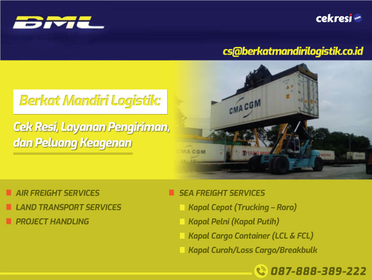 Berkat Mandiri Logistik: Cek Resi, Layanan Pengiriman, dan Peluang Keagenan