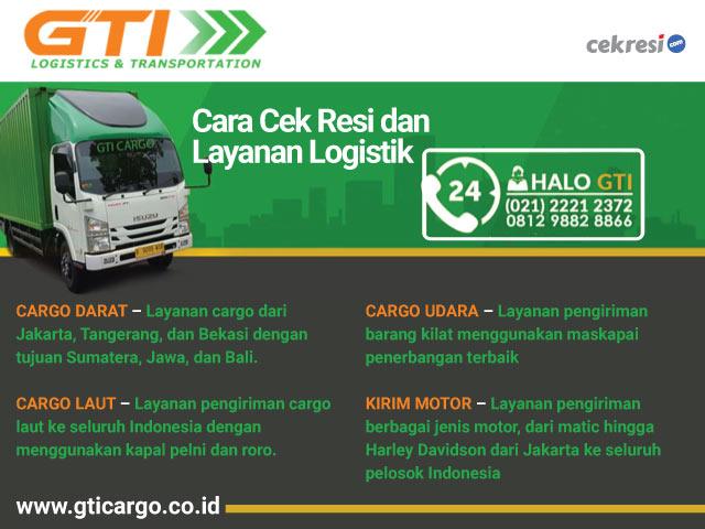 GTI Cargo Cara Cek Resi dan Layanan Logistik