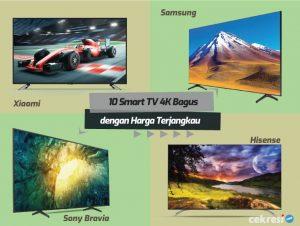 10 Smart TV 4K Bagus dengan Harga Terjangkau