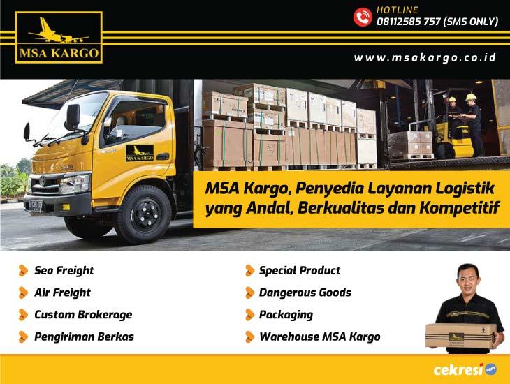 MSA Kargo, Penyedia Layanan Logistik yang Andal, Berkualitas dan Kompetitif