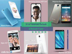 10 Rekomendasi HP Android Terbaik di Bawah 1 Juta