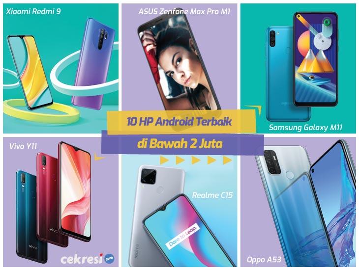 10 Rekomendasi HP Android Terbaik di Bawah 2 Juta