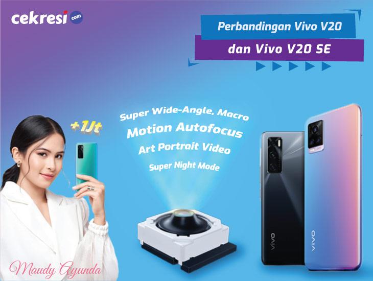 Hanya Beda 1 Jutaan, Ini Perbandingan Lengkap Vivo V20 dengan Vivo V20 SE