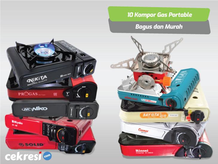10 Rekomendasi Kompor Gas Portable Bagus dan Murah