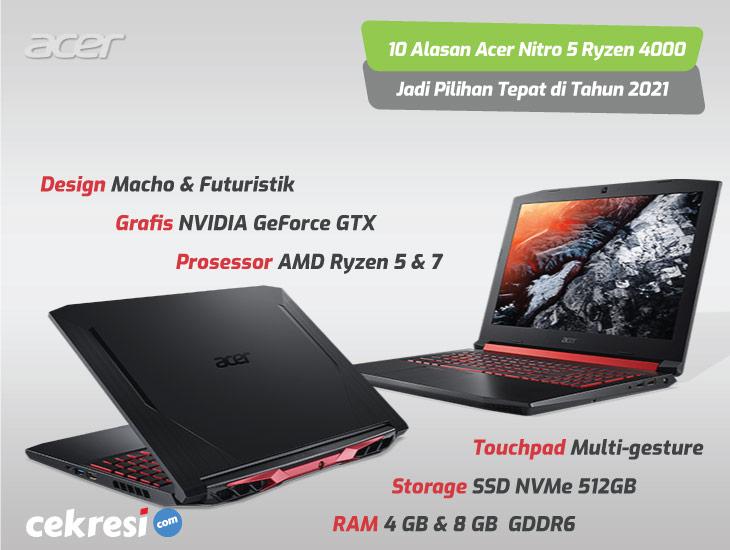 Performa Kencang dan Bebas Panas, Ini 10 Alasan Acer Nitro 5 Ryzen 4000 (AN515-44) Jadi Pilihan Tepat di Tahun 2020