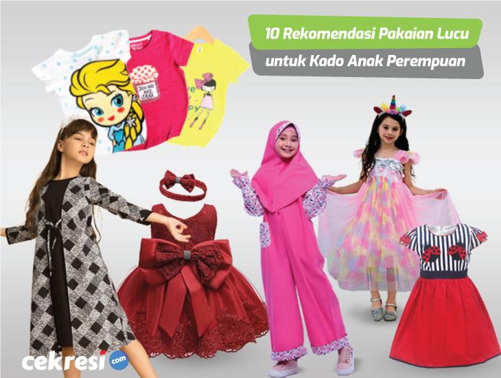 10 Rekomendasi Pakaian Lucu untuk Kado Anak Perempuan