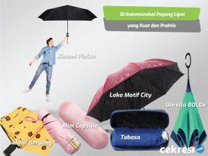 10 Rekomendasi Payung Lipat yang Kuat dan Praktis