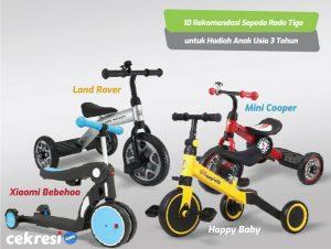 10 Rekomendasi Sepeda Roda Tiga untuk Hadiah Anak Usia 3 Tahun