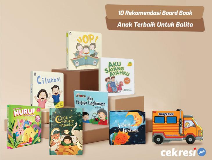 10 Rekomendasi Board Book Anak Terbaik Untuk Balita