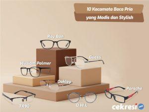 10 Rekomendasi Kacamata Baca Pria yang Modis dan Stylish