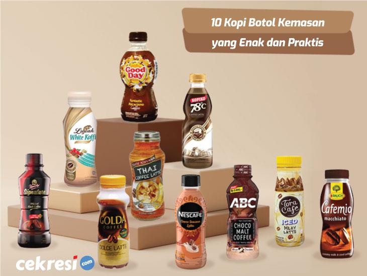 10 Rekomendasi Kopi Botol Kemasan yang Enak dan Praktis