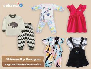 10 Rekomendasi Pakaian Bayi Perempuan yang Lucu dan Berkualitas Premium