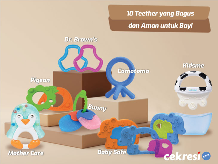 10 Teether yang Bagus dan Aman untuk Bayi