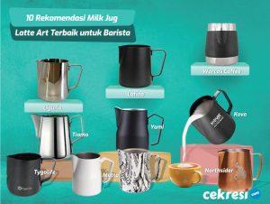 10 Rekomendasi Milk Jug Latte Art Terbaik untuk Barista