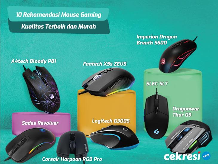 10 Rekomendasi Mouse Gaming Kualitas Terbaik dan Murah