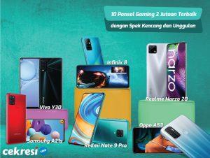 10 Rekomendasi Ponsel Gaming Harga 2 Jutaan Terbaik dengan Spek Kencang dan Unggulan