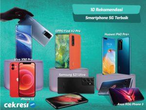 10 Rekomendasi Smartphone 5G Terbaik