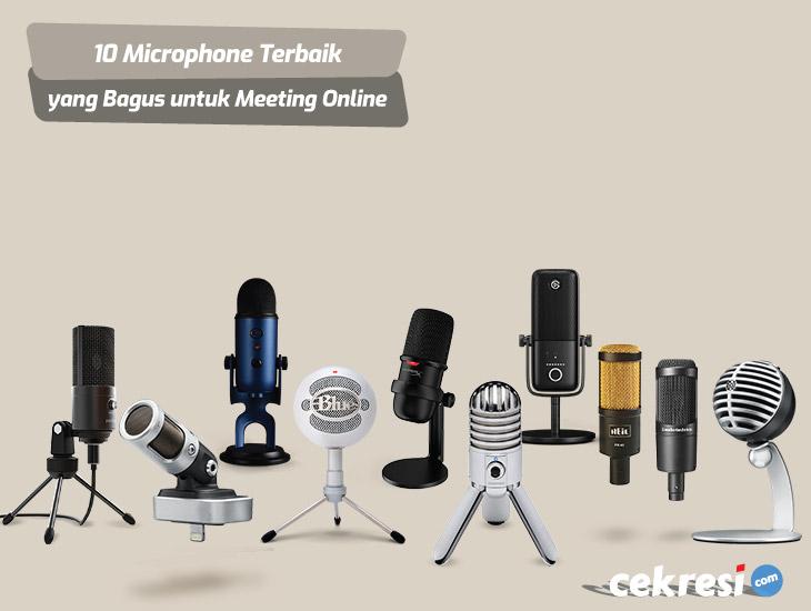 10 Rekomendasi Microphone Terbaik yang Bagus untuk Meeting Online