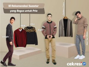 10 Rekomendasi Sweater yang Bagus untuk Pria