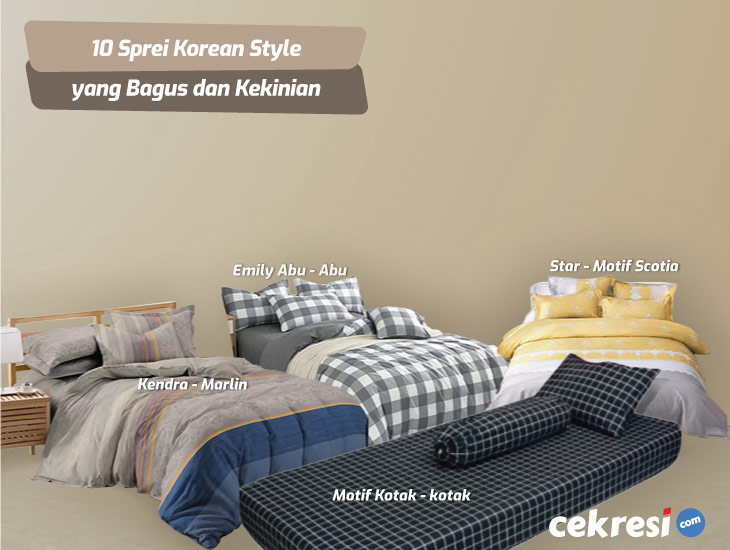 10 Sprei Korean Style yang Bagus dan Kekinian