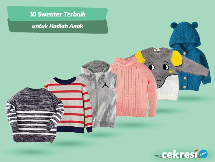 10 Rekomendasi Sweater Terbaik untuk Hadiah Anak