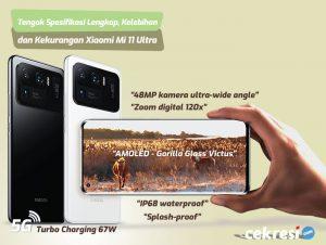 Tengok Spesifikasi Lengkap, Kelebihan dan Kekurangan Xiaomi Mi 11 Ultra